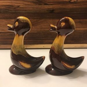 MCM Harvest Gold Blue Mountain Pottery Small Ducks